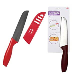 DCI Creative Kitchen Ruler Knife, Assorted Red and Black