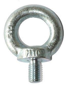 OEillet/piton M10 galvanisé - QUANTITÉ sélectionnable, lot:8 Stück