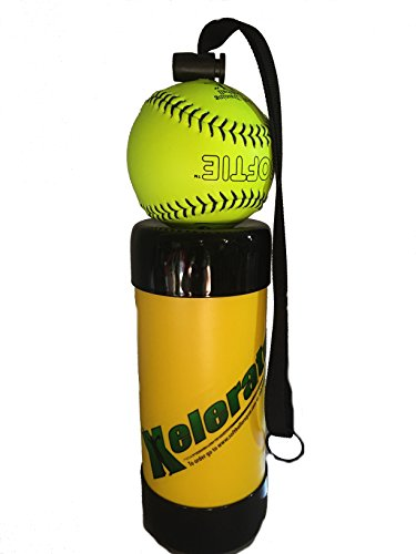 Xelerator 2nd Gen Softball Pitching Trainer w/Leather Ball (Yellow, 11