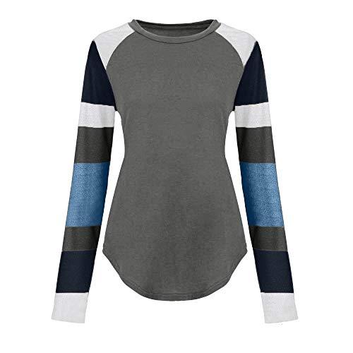 Fille Blouse Sport À Vintage Casual Femme Pullover Robe Tunique Automne Uface Sweatshirt Carreaux Retro Bleu Patchwork Manches Hiver Longues qw5A1nBW
