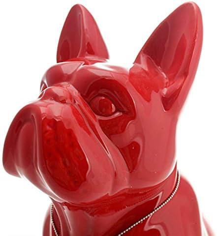 QMZZN Cadeaux Sculpture Sculpture Ornements Sculpture R/ésine Bouledogue Fran/çais Chien en C/éramique Ornement pour Animaux De Compagnie pour La D/écoration Int/érieure