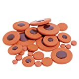 Kmise A8171 1 Set Soprano Saxophone Woodwind 28 Piece Leather Pads for YAMAHA SIZE Replacement