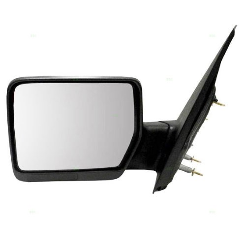 04-08 Pickup Textured Black Power Side View Door Mirror Assembly Driver Left LH ()