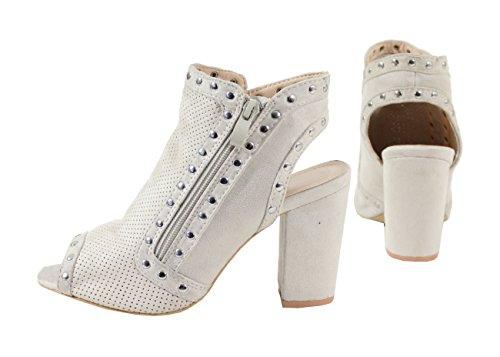 By Sandalias Shoes Mujer Para Beige BCZwFqB