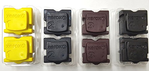 Genuine Xerox 8570 8580 Solid Ink 2 pcs Each per Color (8 pcs/Pack) ()