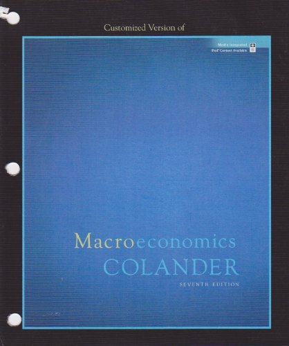 Download Customized Version Of Macroeconomics Colander Book