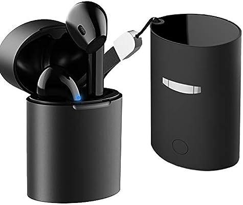 Auriculares Inalambricos Bluetooth Earphones Wireless Cascos sin Cables Mini Auriculares Bluetooth V5.0 con Micrófono Funda de Carga Llamada Binaural ...