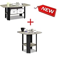Side Table with End Table for Men and Women - Modern Contemporary Light Front PVC Funny Deep Tall Twin Centerpiece Sofa Side Table and Living Room End Table Simple Design, Bundle