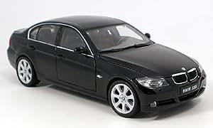 BMW 330i, negro, Modelo de Auto, modello completo, Welly 1:18