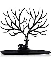 منظم مجوهرات بتصميم شجرة وصينية وحامل عرض لتنظيم الاقراط والقلائد والخواتم والاساور من ليتل دير