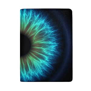 Brigital Beautiful Multicolored Eye Blocking Print Passport Holder Cover Case Travel Luggage Passport Wallet Card Holder Made with Leather for Men Women Kids Family