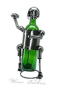 Three Star ZB610 Wine Bottle Holder - Football Player