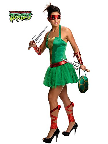 Secret Wishes  Costume Teenage Mutant Ninja Turtles Raphael Adult Female, Green, (Tmnt Costumes Ideas)