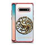 Official HBO Game of Thrones Sigils - Targaryen Gold Various Designs Red Shockproof Fender Case Compatible for Samsung Galaxy S10+ / S10 Plus