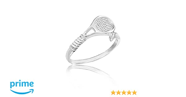 Amazon Com Honolulu Jewelry Company Sterling Silver Tennis Ring