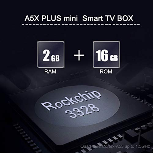 Sidiwen Android 9 0 TV Box A5X Plus Mini Smart Media Player 2GB RAM 16GB  ROM Rockchip RK3328 Quad Core Support 3D 4K Ultra HD H 265 HEVC WIFI 2 4G