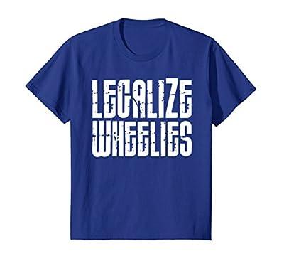 Motorcycle T-shirt Legalize Wheelies Funny Biker Tee