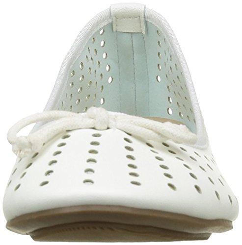 Molly Mujer Bailarinas para White Blanco Bracken Ro01 0xrzwS0