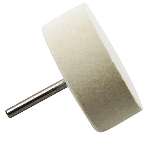 Sutemribor 75mm Felt Polishing Wheel for use with Cerium Oxide Polishing Powder