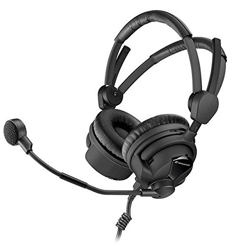 Sennheiser HMD 26-II-100-8 Broadcast Headset, 100 Ohm Impedance, 40 to 16.000Hz Frequency Response, ActiveGard, Dynamic Microphone
