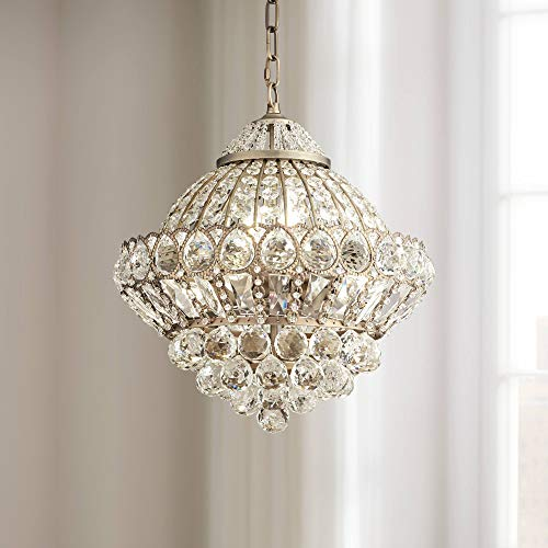 Wallingford Antique Brass Chandelier 16 Wide Crystal Shade 6-Light Fixture for Dining Room House Foyer Kitchen Island Entryway Bedroom Living Room - Vienna Full Spectrum