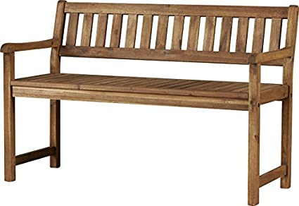 Outdoor Acacia Wood Garden Bench, Sturdy And Long Lasting Solid Acacia Wood  Frame, Slatted