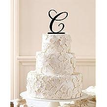 Monogram Letter Wedding Cake Topper, Initial Cake Topper in Any Letter a B C D E F G H I J K L M N O P Q R S T U V W X Y Z.