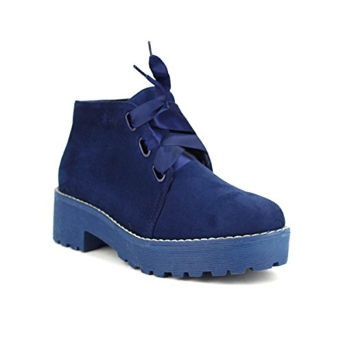 Femme fa BELIOS Bottine Derbies Blue Chaussures Cendriyon on 0qPw5Rn1