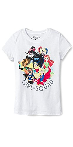 Girls' DC Super Hero Girls Short Sleeve Tee (Large)