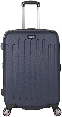 """Kenneth Cole Reaction Renegade 24"""" ABS Expandable 8-Wheel Upright, Navy, inch Checked"""