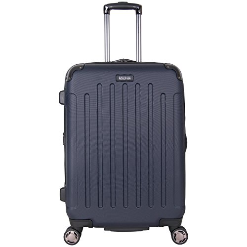 Kenneth Cole Reaction Renegade 24' Hardside Expandable 8-Wheel Spinner Checked Luggage, Navy