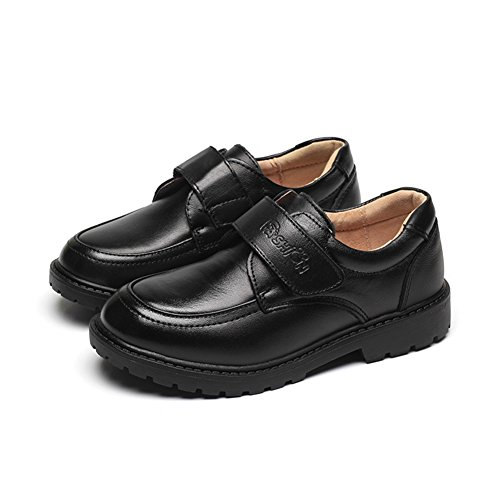 F-OXMY Kids Uniform Shcool Dress Shoes Boys Slip-On Casual Oxfords Shoes (Toddler/Little Kid/Big Kid) Black (Casual Boys Oxfords)