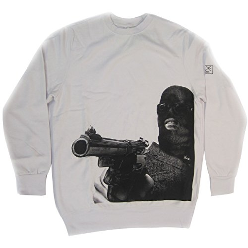 Crooks & Castles Men's Stickup Sweatshirt, White, XL/TG