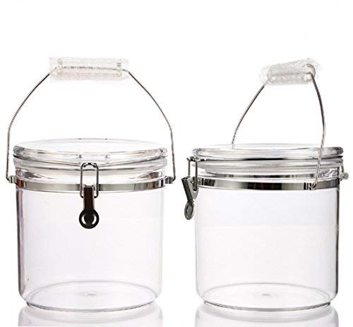 Felli classic round airtight canister with locking clamp and handle. 7.5