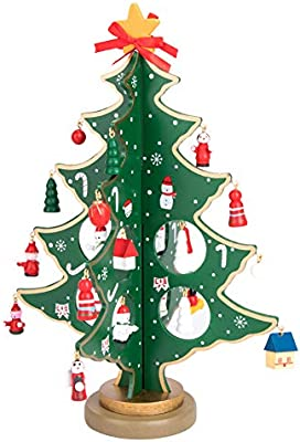 Árbol de Navidad de madera bricolaje dibujos animados navidad ...