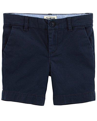 Osh Kosh Girls' Toddler Skimmer Short, Navy, 4T