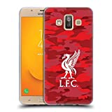 Official Liverpool Football Club Home Colourways Liver Bird Camou Soft Gel Case for Samsung Galaxy J7 Duo (2018)