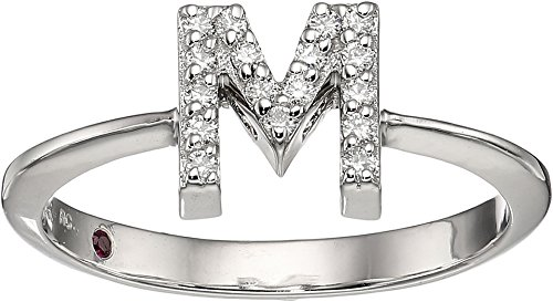 Roberto Coin White Ring (Roberto Coin Women's Tiny Treasure Initial M Love Letter Ring White Gold 6 1/2)