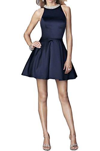 abito Prom da Blu inchiostro Dress Donna raso Sweetheart perline scollo sera linea ressing leid cocktaik di a con breve ivyd 1qwfZOFw