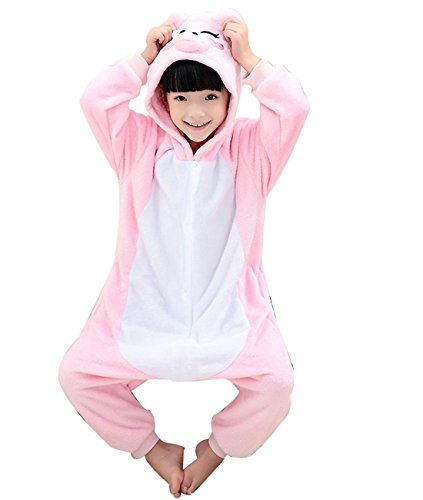 [Duraplast Girl's Sleep Bag Onesie Pajamas Animal Costume Hoodie Fleece Pig XXL] (Little Pig Costumes)