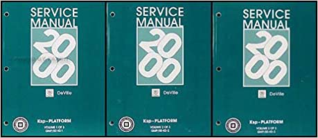2000 Cadillac Deville Repair Shop Manual Original 3 Volume Set ...
