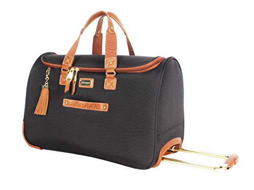 - Steve Madden Luggage Suitcase Wheeled Duffle Bag (Global Black)