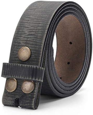 ZUOZUO Cinturón Cinturón Vintage Sin Hebillas para Hombres Pantalones Vaqueros De 3,8 Cm De Ancho Correa De Piel De Vaca Sola Capa De Cuero