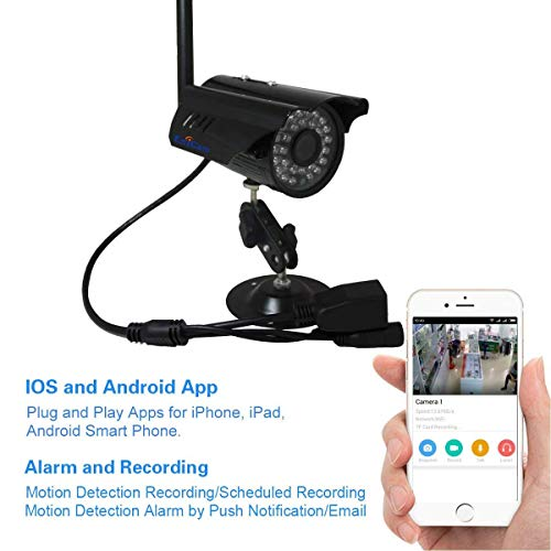 EsiCam HN03 720P Wireless Outdoor Bullet Surveillance Camera Home Security IP Camera with Smart Alerts and Night Vision iOS & Android APP Support