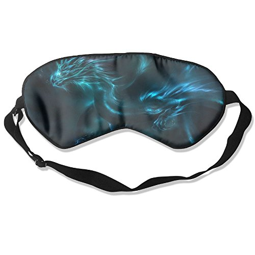 Sleep Mask Dragon Pattern Eye Cover Blackout Eye Masks,Soothing Puffy Eyes,Dark Circles,Stress,Breathable Blindfold For Women Men by MB32