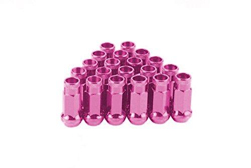 CPR de composici/ón abierta 17hex acero rueda Lug Nuts 20Pcs M12/x 1,25 color rosa