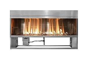 Firegear OFP-36LTFS-N Kalea Bay Linear Outdoor Fireplace, 36-inch, Natural Gas