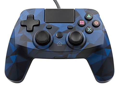 Snakebyte Gamepad for Playstation 4 - Wired PS4 Controller with 3m Cable - Blue Camo (Camo Blue)
