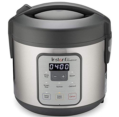 Instant Zest Rice Cooker, Grain Maker, and Steamer, 8 Cups, Cooks White Rice, Brown Rice, Quinoa, and Oatmeal