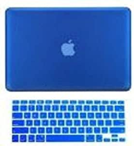 Soft-touch Series Hard Protective Plastic Case Cover & Keyboard Cover For Apple Macbook Pro 13 13.3 Inch/blue